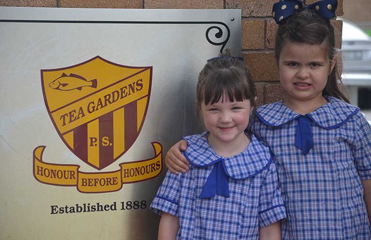 KINDERGARTEN KIDS: Ella Cameron and Emily Selby.