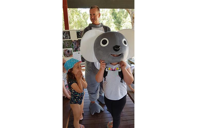 KOALA CLASSES: 'Ken the Koala' aka Peter Rogers.