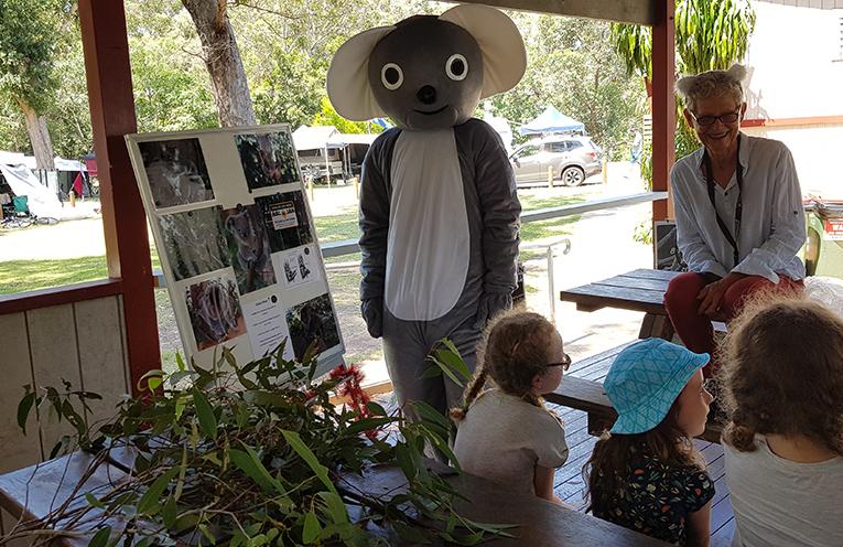 JIMMY'S BEACH CARAVAN PARK: Koala Classes with 'Ken the Koala' and Adrienne Ingram.