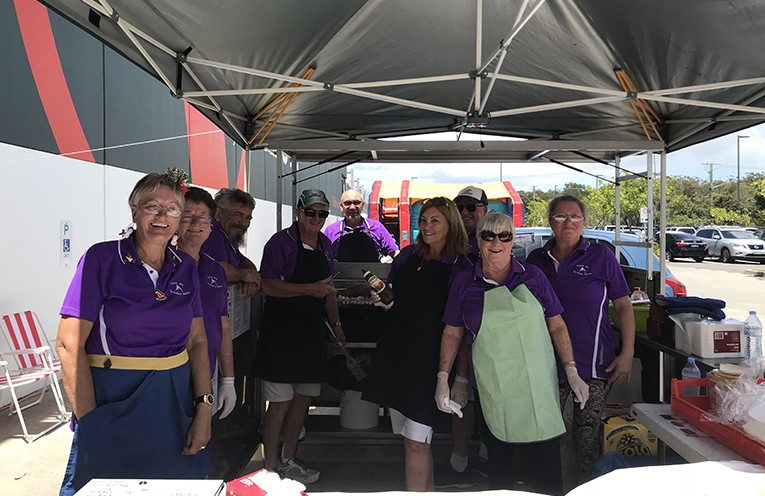 The Travelling Marlins raising money for their program at Bunnings Taylors Beach. Photo by Marian Sampson.