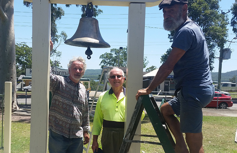 Bringing back the bell to St Columbas at Karuah