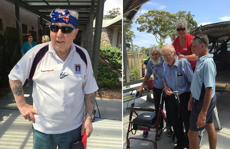 AUSSIE DAY OUT: Peter Sinclair residents celebrate Australia Day.