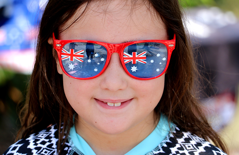 Bella Fleming was wearing the 'must have' Aussie glasses.