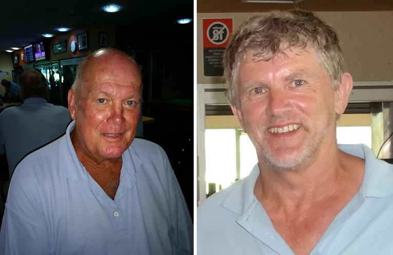 Front nine winner Bill Vandenberg. (left) Back nine winner David Brailey.  (right)