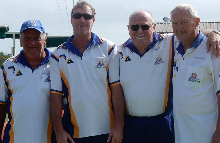 Finalists for the Club Championship Fours; Greg Smith, Jeff Baker, Noel Jackson and Geoff Fowler.
