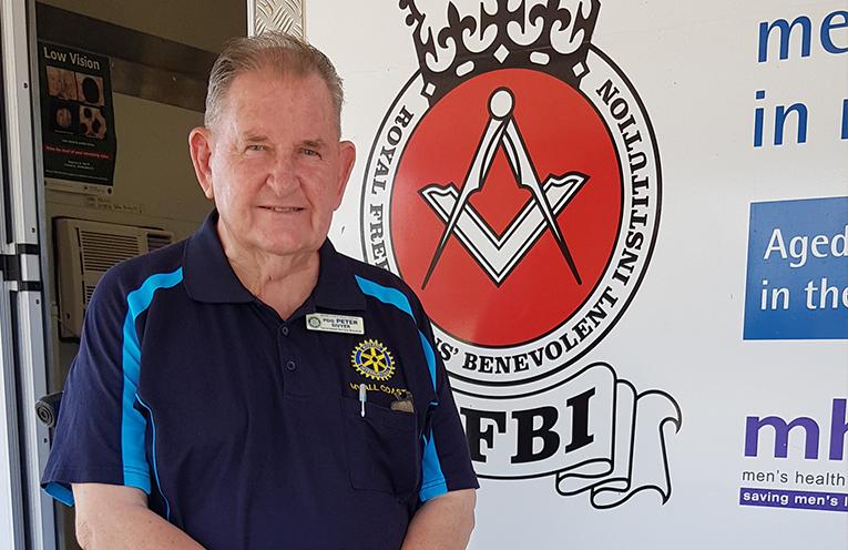 MOBILE HEALTH VAN: Rotary President Peter Sivyer.