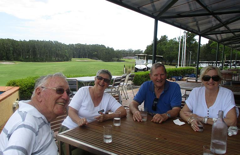 Graeme Paul, Sue Watson,  Rex and Edith Sneyd at Horizons café.