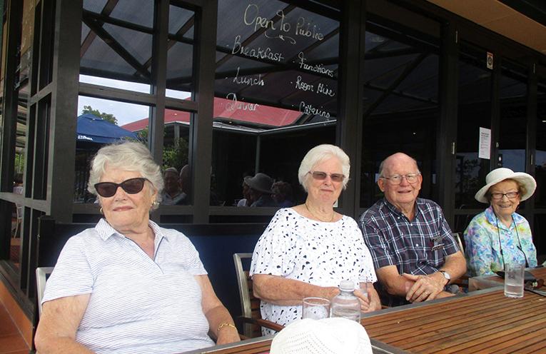 Shirley Dee, Jenny Wright, Norman Martin and Thelma Wynn.