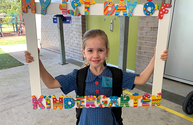 """Chyler Kelly, Wirreanda Public School, """"I am excited to be going to big school just like my big brothers."""""""
