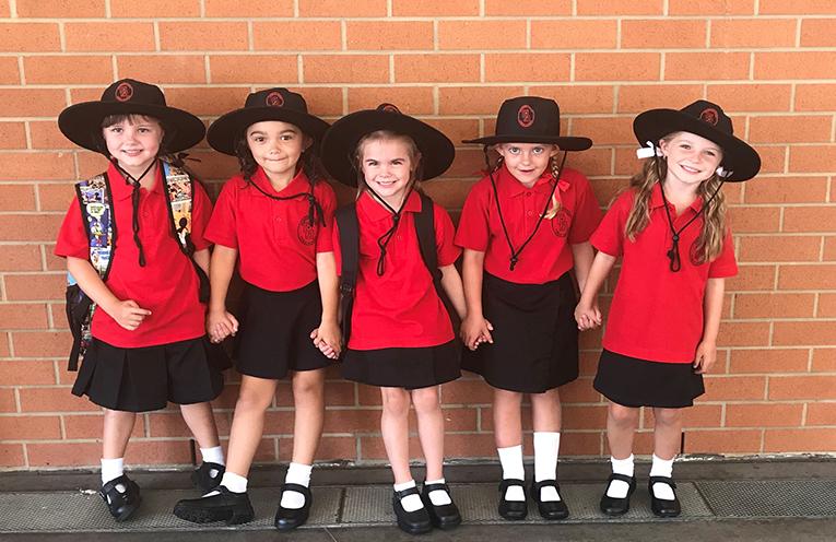 Five friends start at Soldiers Point Public School, Marley Lester, Eden Price, Isabelle Archer, Natalie Gebuehr, and Kalani Spackman.