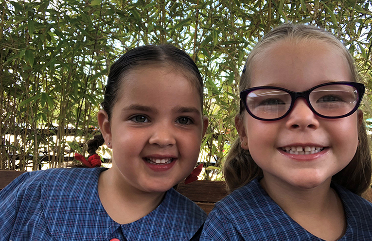 Bella McFarlane and Evie Jeffery, Wirreanda Public School.