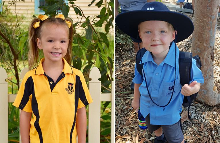 Tori Coates, Medowie Public School. (left)  Tobias Hill, Medowie Christian School. (right)