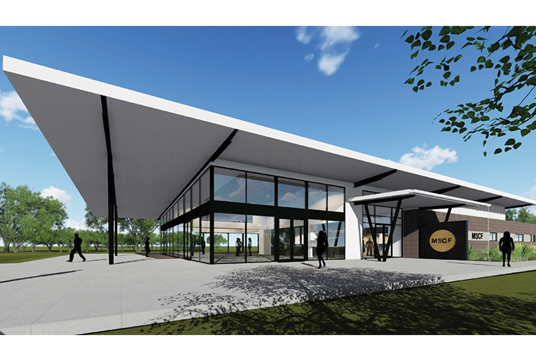 Artist's impression of Medowie Sport and Community Facility.