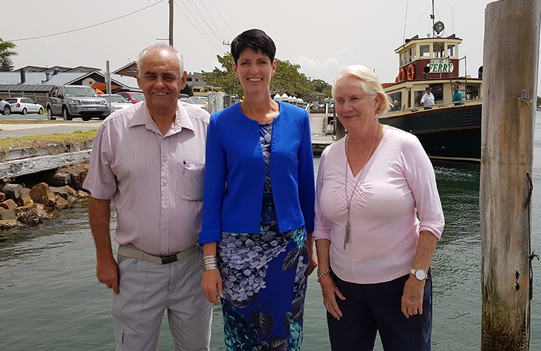 MEET THE CANDIDATES: Len Roberts with Kate Washington MP and Lorraine Lock.