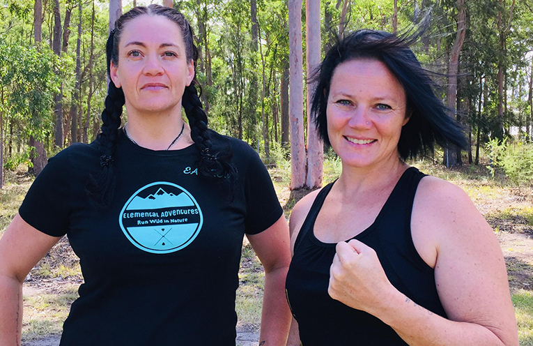 Monique Bortoli, Elemental Adventures and Kelly O'Brien, Imugi Martial Arts.