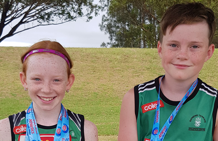 Winners are grinners, Dixie Conlon and Cooper McKenna proud of their achievements.