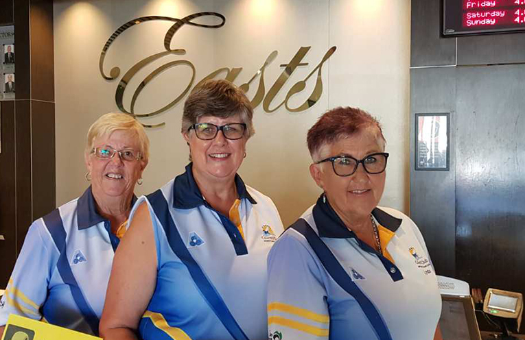 Runners Up East Maitland Invitation Triples Lynne Green, Karen McPhie and Lynda Richards.