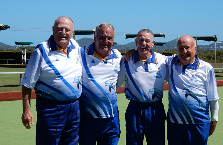 Minor Pairs winners, Noel jackson and Greg Smith with runners-up, Graham Kelly and Gary Wynne.