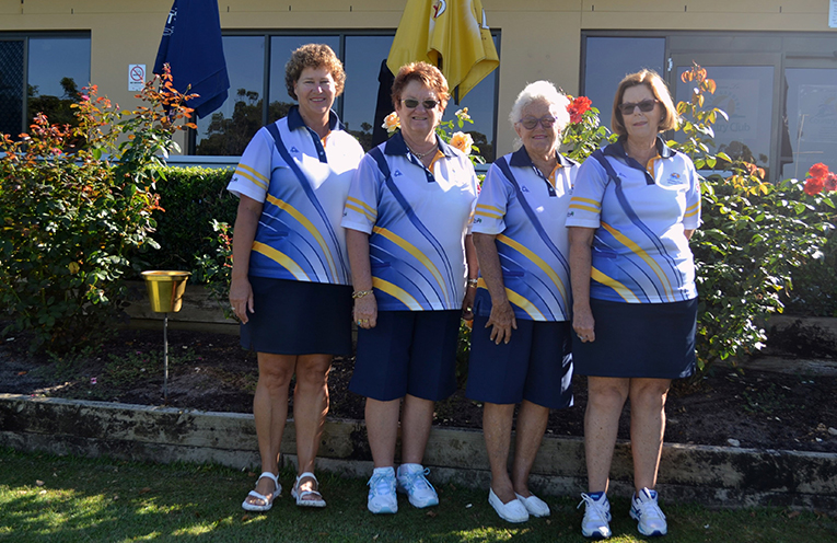 Winners Club Championship Fours: Robyn Beaumont, Deyonne Page, Maynie Roberts and Kayelene Pearson.
