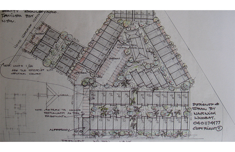 Warwick Lindsay's development plan.
