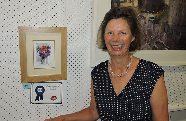 Penny Meharg won the Port Stephens Art Prize Encouragement Award in 2017.