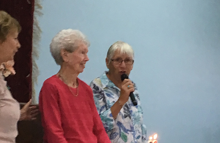 Verlie Napper celebrating her 90th birthday.