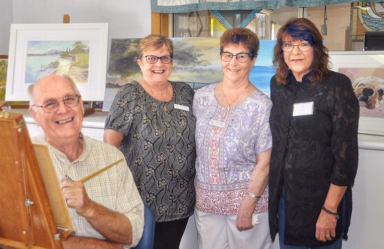 ARTISTS ON DISPLAY: Rudy Jacobs, Clare Yates, Joan Richards and Jennifer Street.