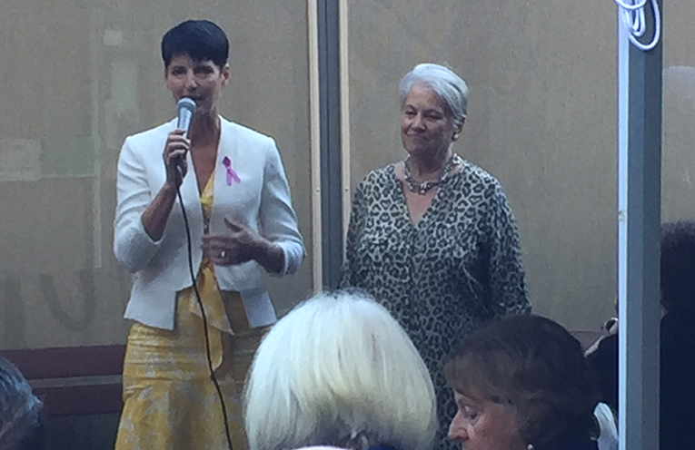 Kate Washington MP with Coral Kearins, Port Stephens Woman of the Year 2019.
