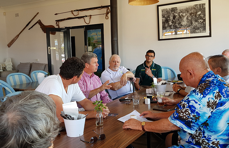 TEA GARDENS HOTEL: Dr David Gillespie lunches with community leaders.