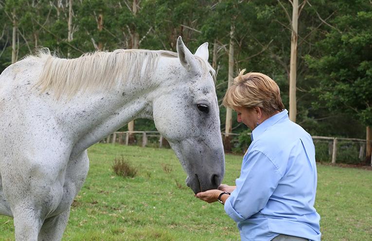 Wrango with Virginia Ede of Maggie's Farm.