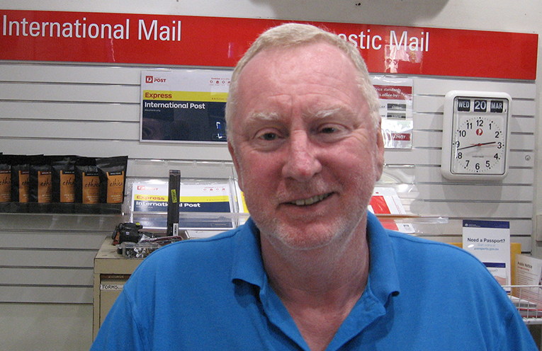 Lifestyle change – new licensee Peter Wheeler at Australia Post Tanilba Bay.