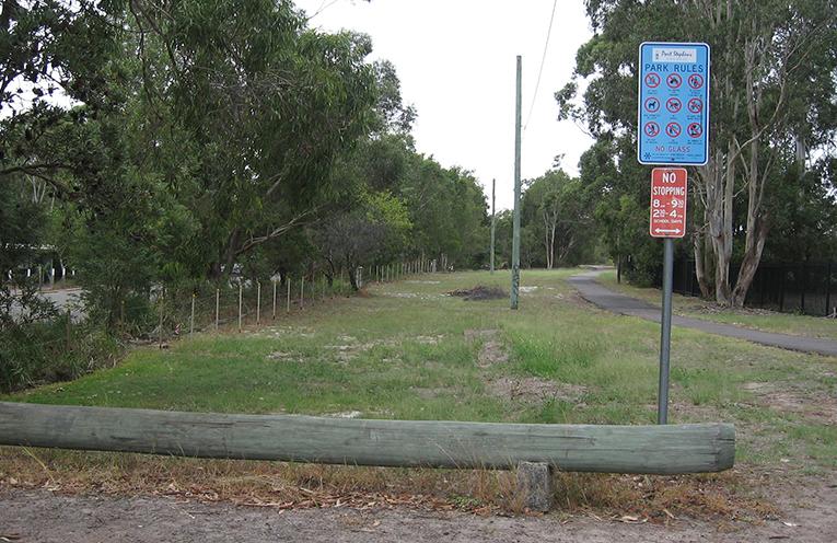 Proposed car park extension site.