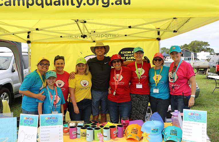The Camp Quality Team at Rock On The River.
