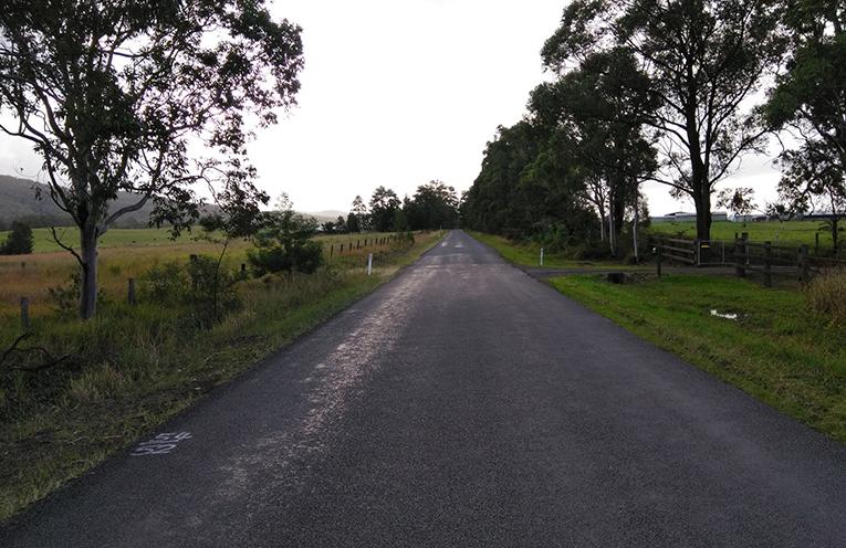 Markwell Road at Bulahdelah.