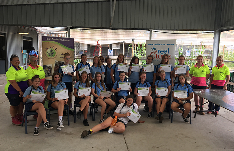 Success, the girls who successfully completed the Real Futures Foundation and Tomaree High School S.A.L.T. Workshop.