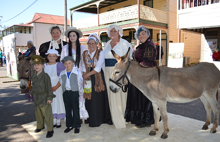 Bringing history to the community at last year's festival hosted by the King Street Group.