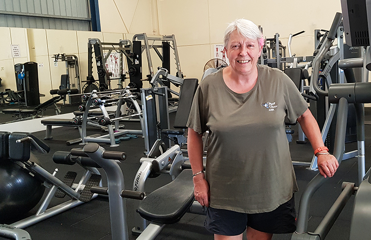 MYALL FITNESS: Owner, Ann Woods.