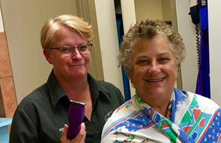 Donna Gilroy ready to clip with veteran fundraiser Loreto Gray