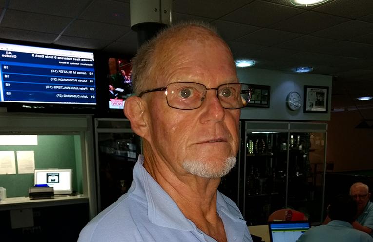 Front nine winner Keith Harrap.