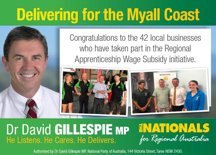 Dr David Gillespie MP -Member for Lyne