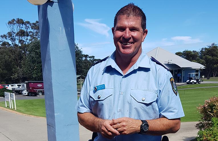 BOUND FOR BROKEN HILL: Senior Constable Dave Coyle.