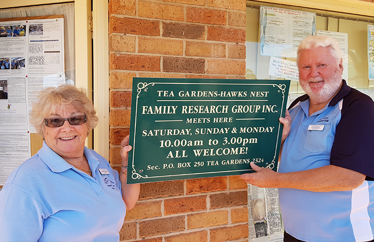 FAMILY RESEARCH MEMBERS: Margaret and Terry Munright.