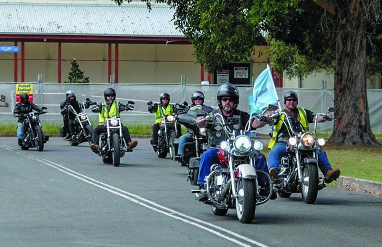 Bikes led by AMC Coalfields Chapter President Andrew Redgrove.