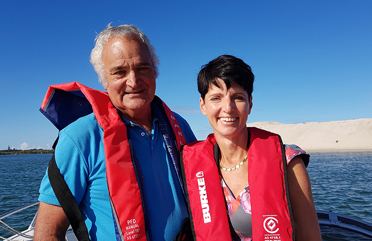 TOUR OF THE MYALL: Federal Labor Candidate Phil Costa and Port Stephens MP Kate Washington.
