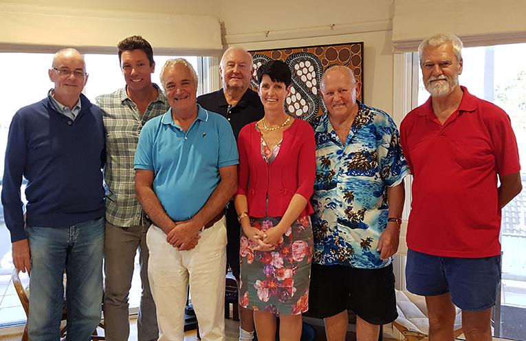MYALL RIVER ACTION GROUP MEETING: Ken Garrard, Ben Hanson, Phil Costa, Mike Ferris, Kate Washington, Gordon Grainger and Paul Bendy.
