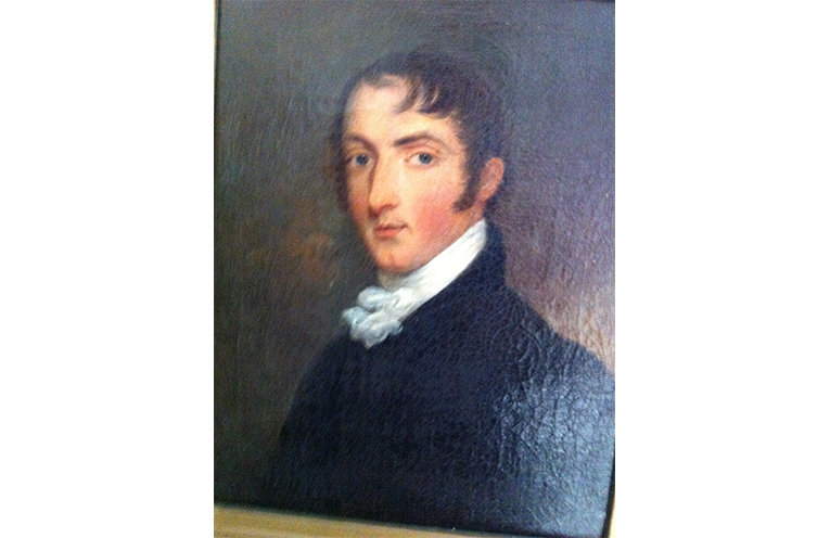 A portrait of the Rear Admiral Phillip Parker King.