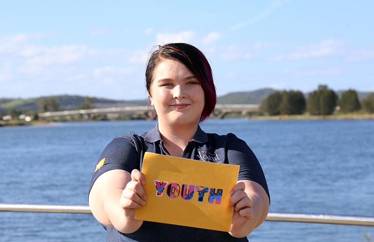Port Stephens Youth Advisory Panel member Mahaylia Soars.