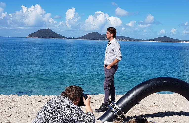 SAND TRANSFER SYSTEM: MidCoast Council Coastal Management Coordinator Andrew Staniland.
