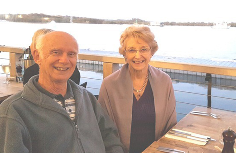 SNOWY MOUNTAINS SCHEME: Colin and Trish Gratwick.