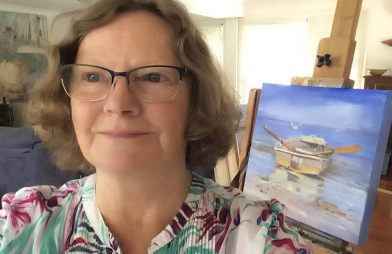 Painter Diane Dean whose works will be exhibited.